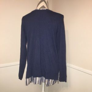 J. Jill Sweaters - J. JILL   Sweater w faux Button down under shirt